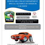 Special Olympics Flyer for Car Show