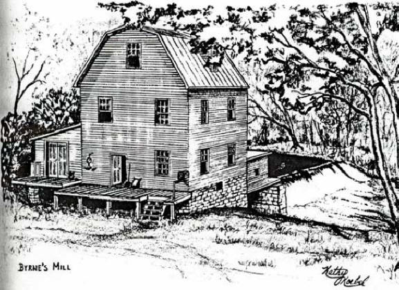 Mill Drawing by Kathy Koebel